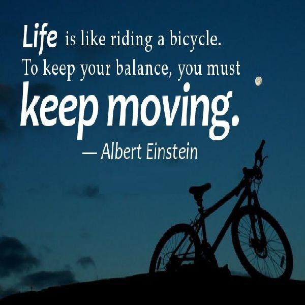 15 Life Is Like Riding A Bycicle Quote Amo