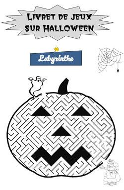 Livret de jeux sur Halloween