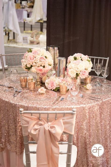 Rose Gold Table Top by Hilton Lake Las Vegas. During our