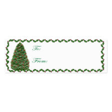 Christmas Tree Christmas Tag Card profilecard