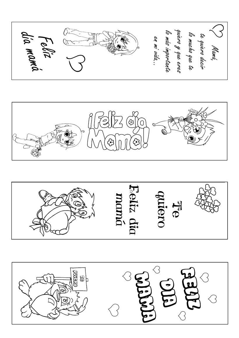 Actividades Manuales De Marcador De Página Día De La Madre Para