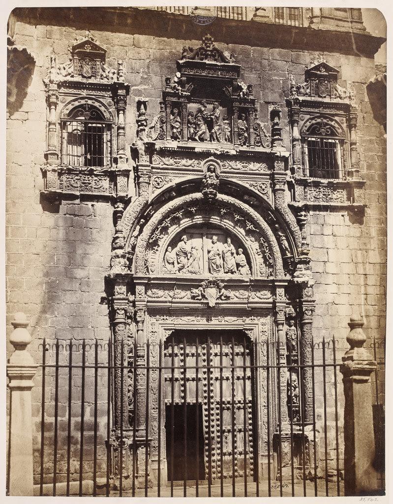 Portada del Hospital de Santa Cruz en la primavera de 1858. Fotografía de Charles Clifford. Victoria and Albert Museum, London