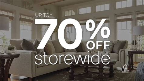 ashley furniture homestores sale clearance event