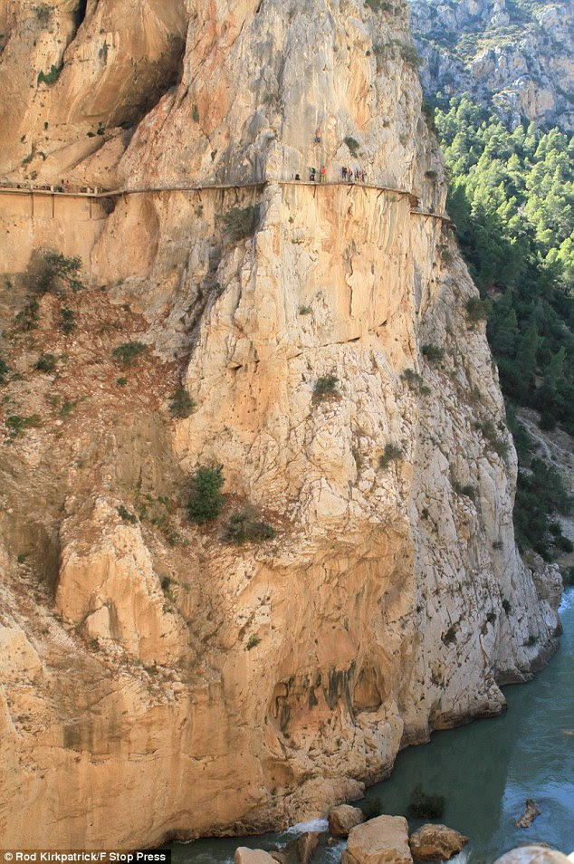 History: El Caminito Del Rey, also known as the King's Pathway, was originally built in 1905 for workers to travel between two hydroelectric power plants but was closed-off in 2000 after two walkers fell to their deaths