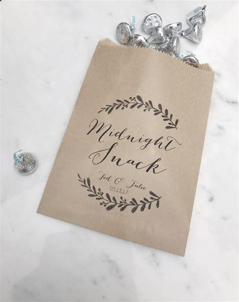 Midnight Snack Wedding Favor Bags   SALTED Design Studio