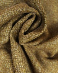 English Wool Tweed Fabric   Ochre   Truro Fabrics