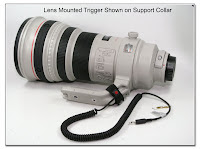 Lens Mounted Trigger Cable Wrapped around Support Foot of Lens