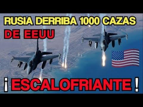 RUSIA  DERRIBA MIL  CAZAS JET  de EEUU en FEROZ COMBATE AEREO ¡ ESCALOFR...