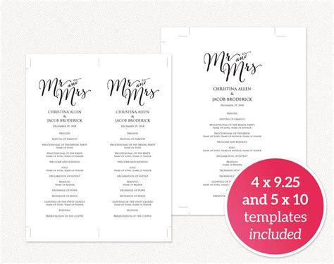 DIY Wedding Templates · Wedding Templates and Printables