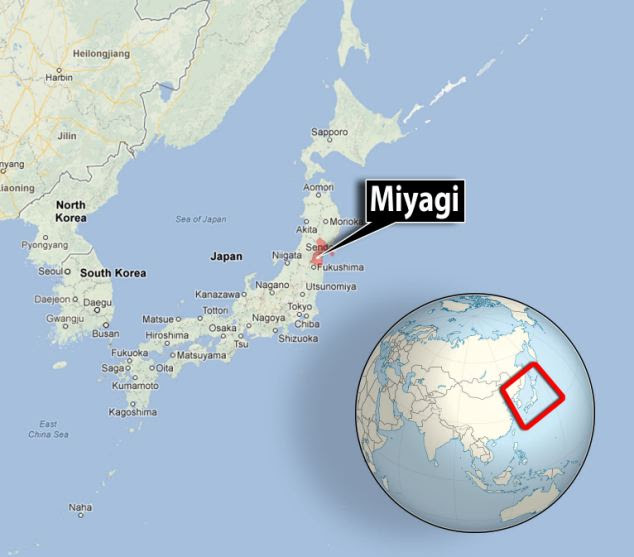 Tremors: The Japan Meteorological Agency said the earthquake, with a preliminary magnitude of 7.3, struck in the Pacific Ocean off the coast of Miyagi prefecture at 8.18am UK time
