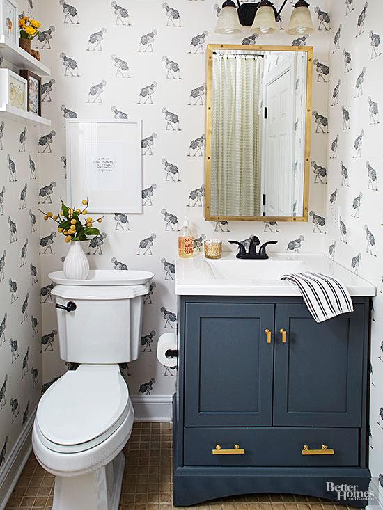 Home Architec Ideas Bathroom Ideas Blue Vanity