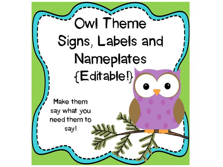 1000+ images about OWLS Classroom Theme on Pinterest | Owl labels ...