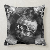 skulls throwpillow