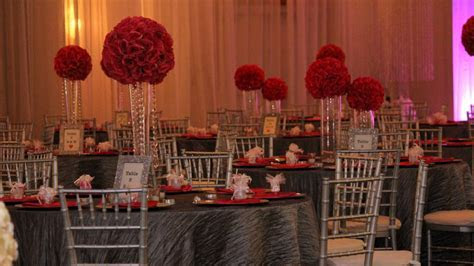 Red and Gray Wedding Reception in Tampa   Bayanihan Arts