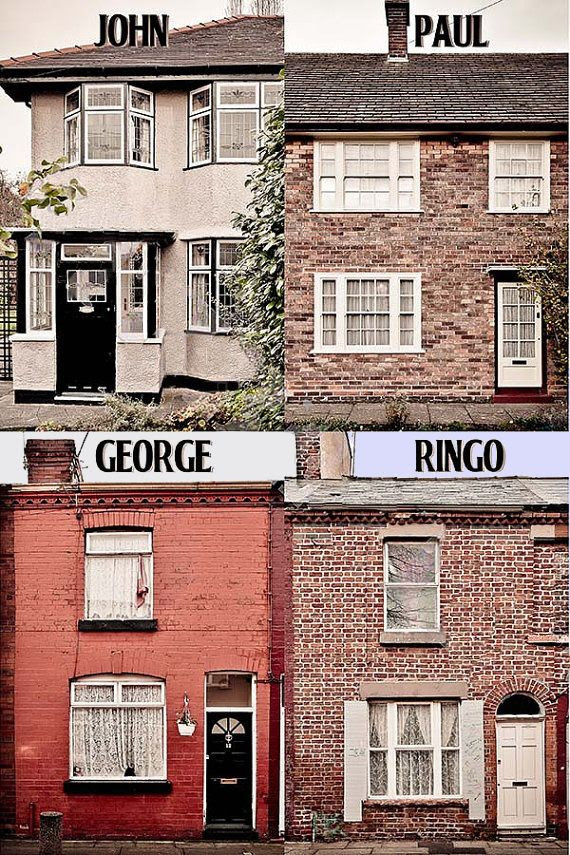 The Beatles childhood homes