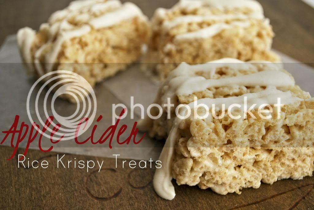 Apple Cider Rice Krispy Treats