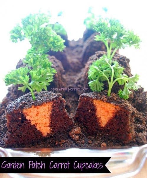 garden patch carrot cupcakes