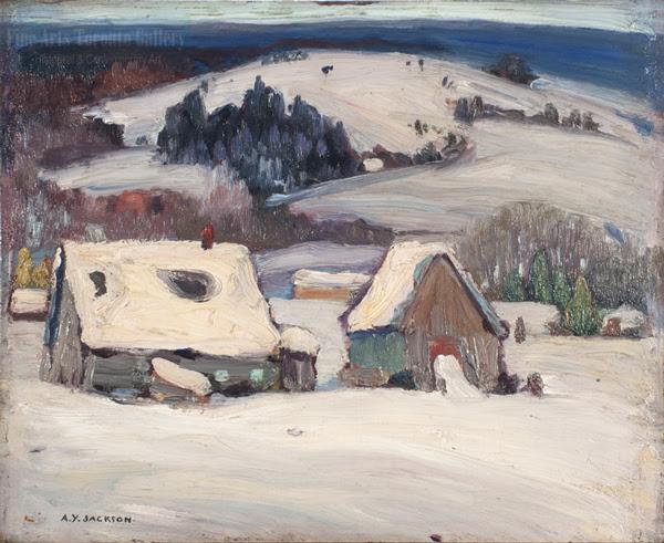"A.Y. Jackson - ""Baie St. Paul, Quebec"" (1951)"