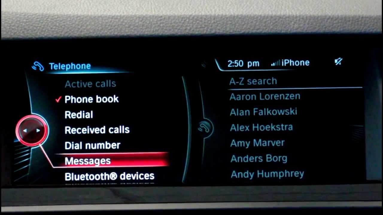 The Motorwerks Minute Text Messaging On Idrive With Ios7