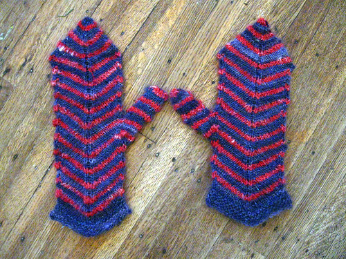 Mitered Mittens from knitter's almanac