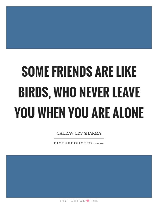 Some Friends Are Like Birds Who Never Leave You When You Are
