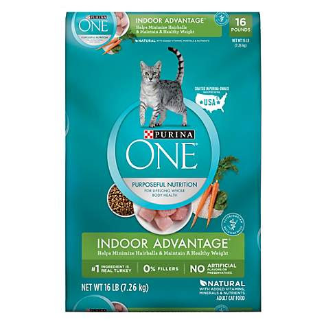 Purina ONE Indoor Advantage Hairball & Healthy Weight Cat Food   Petco