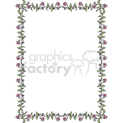 Delicate Flower Border vector clip art image 133989   WMF