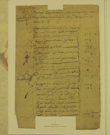 Fragmento del documento escrito por Cervantes