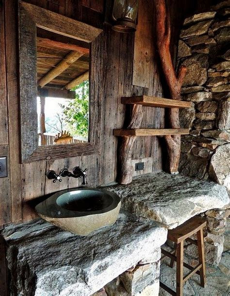 rustic bathrooms  owner builder network