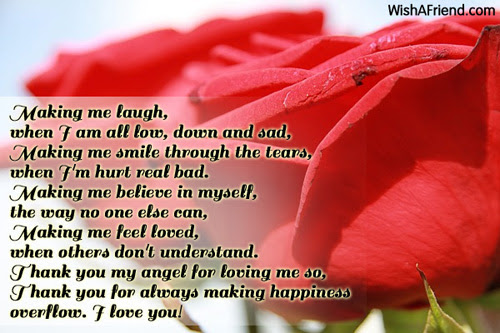 Making Me Laugh When I Am All Low Love Poem