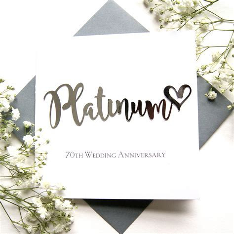 Platinum 70th Wedding Anniversary Card   Shop Online