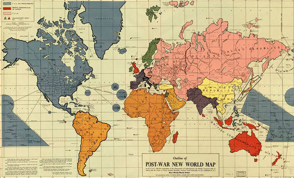 Preview image of Post-War New World Map