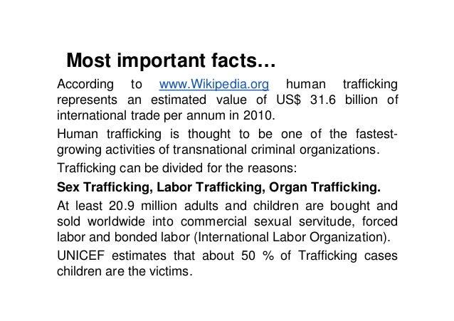 thesis statement human trafficking