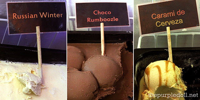 Frisch Liquor Ice Cream in Russian Winter, Choco Rumboozle and Carami de Cerveza