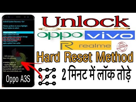 Unlock Oppo A37 password | Unlock Oppo A3s pattern lock | Oppo ka lock kaise tode