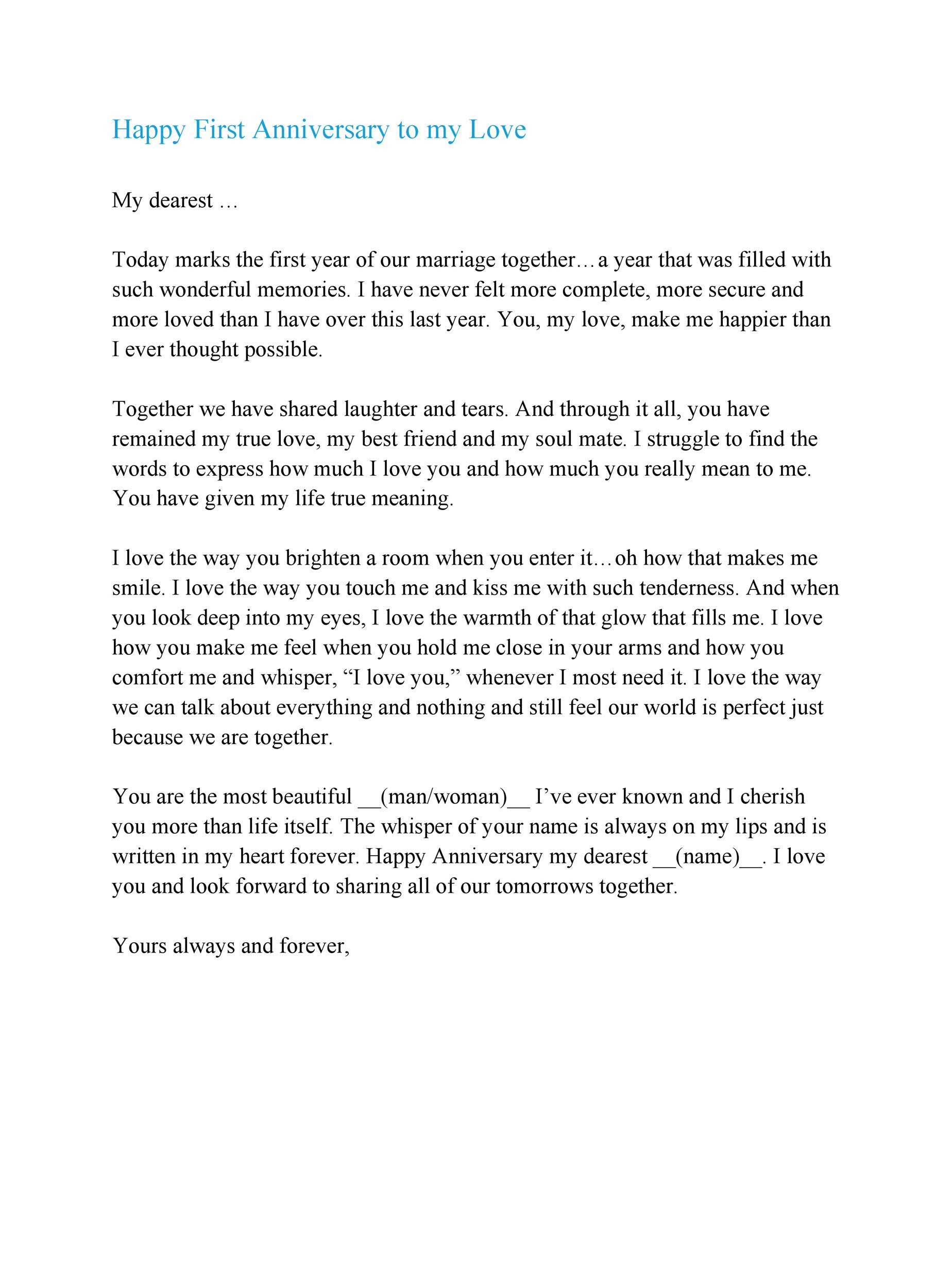 One Year Anniversary Letter from lh4.googleusercontent.com