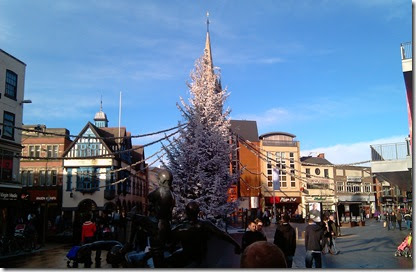 The Xmas Tree in Leicester, 2009