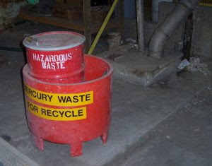 Mislabeled Mercury Waste Drum Identified During waste Audit