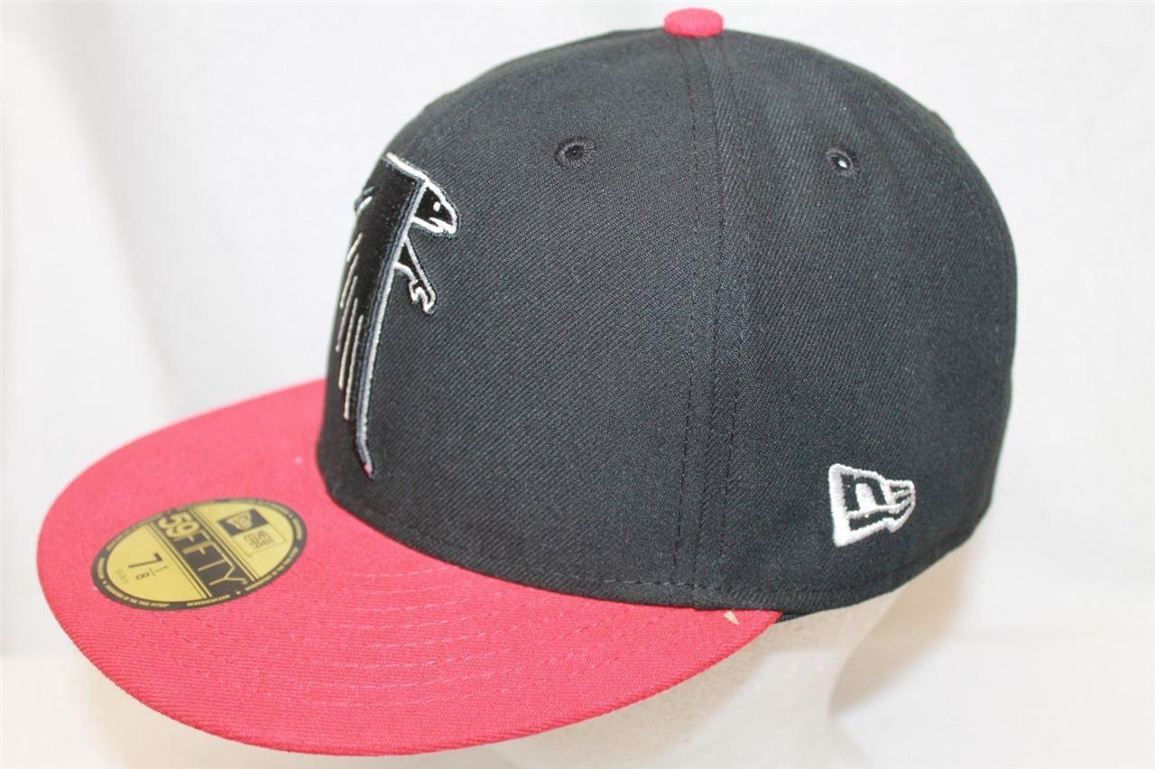 ATLANTA FALCONS NFL NEW ERA 59FIFTY VINTAGE HAT CAP 2 TONE BLACK/RED  eBay