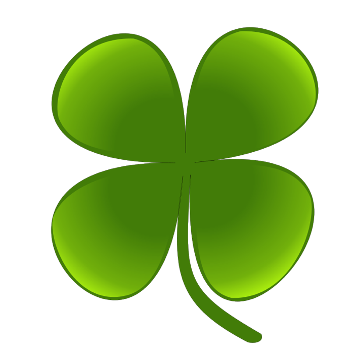 Clipart Of Shamrocks And Four Leaf Clovers
