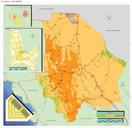 Mapa Estado de Chihuahua, Mexico Fuente: INEGI