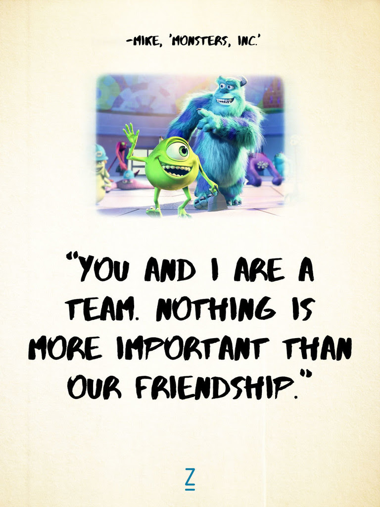 From Monsters University Pixar Movie Quotes That Will Make You