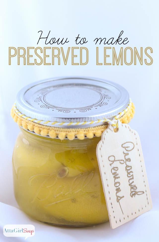 Moroccan Preserved Lemon Recipe