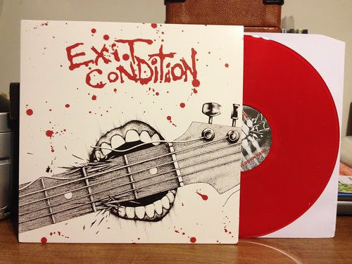 Exit Condition - Bite Down Hard/Impact Time LP - Red Vinyl /300 by Tim PopKid