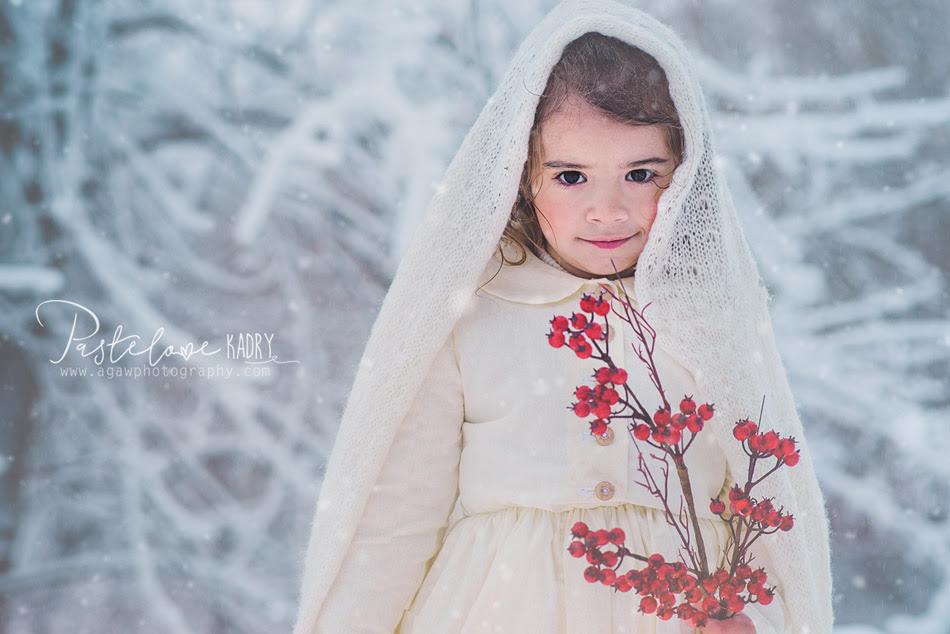 zimowa sesja dla dziewczynki