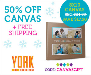 50% Off Photo Canvas - AND - Free Shipping!