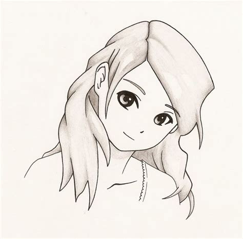 anime cute drawings easy girl drawing group fepaexorg