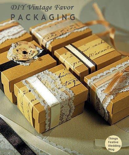 Vintage Wedding Favors   DIY Vintage Favor Packaging