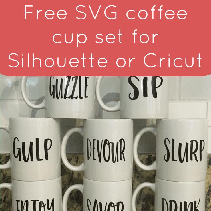 Download Free Coffee Mug Set SVG for Silhouette, Cricut, or ...