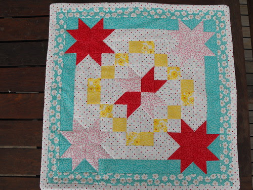 Doll quilt received - front